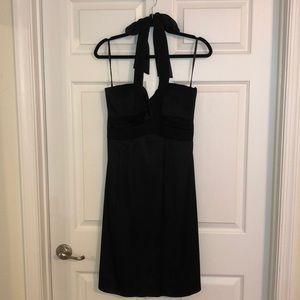 BCBG Black Silk Cocktail Dress- worn once!